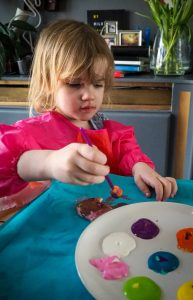 Easter crafting with kids salt dough decorations