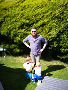camping with kids not just a tit blow up bed