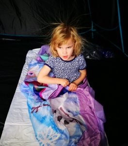 readybed camping with kids not just a tit static hair