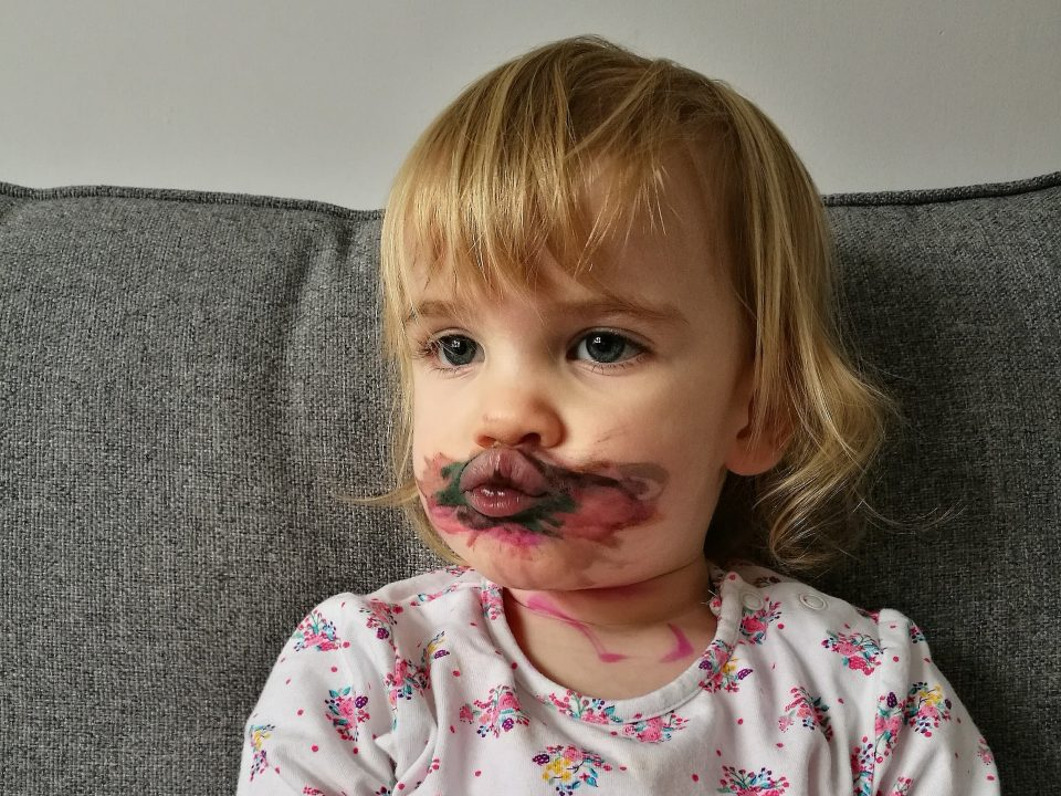 not-just-a-tit-what-the-hell-is-happening-blog-post-parenting-humour-lipstick-toddler-face