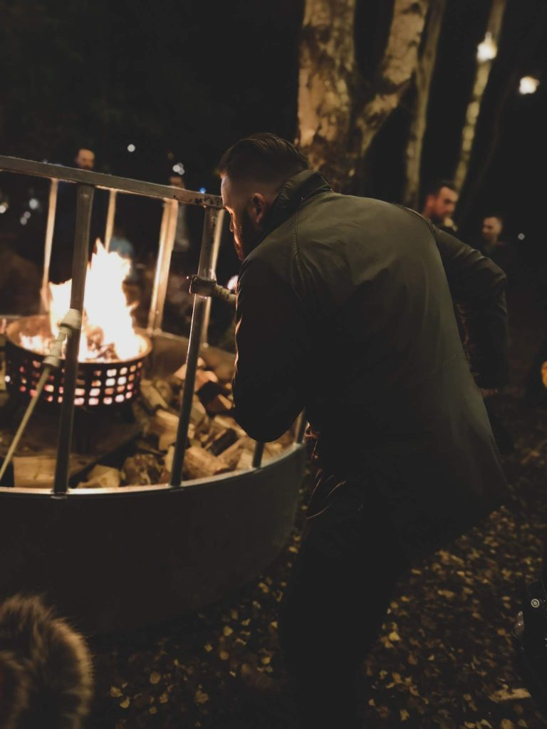 not just a tit magical woodland experience cheshire fire pit toasted marshmallows
