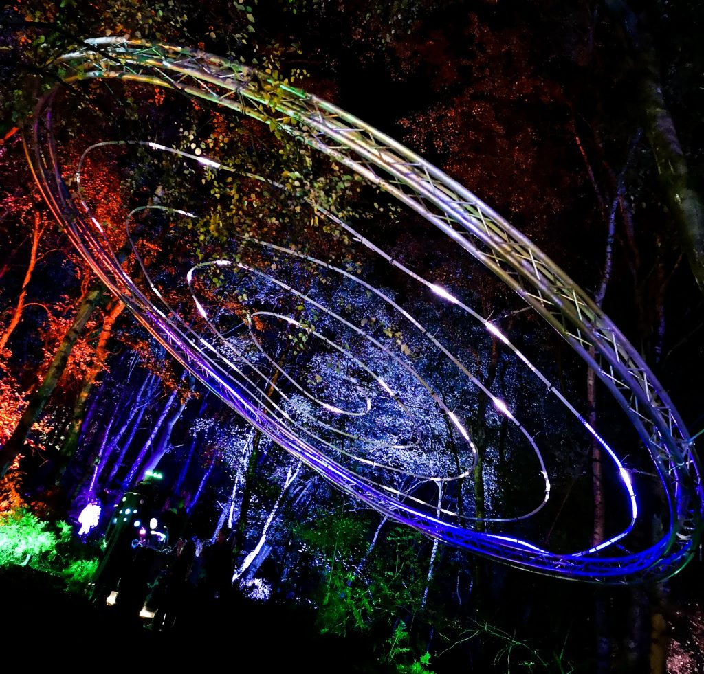 not just a tit magical woodland experience cheshire light show ufo
