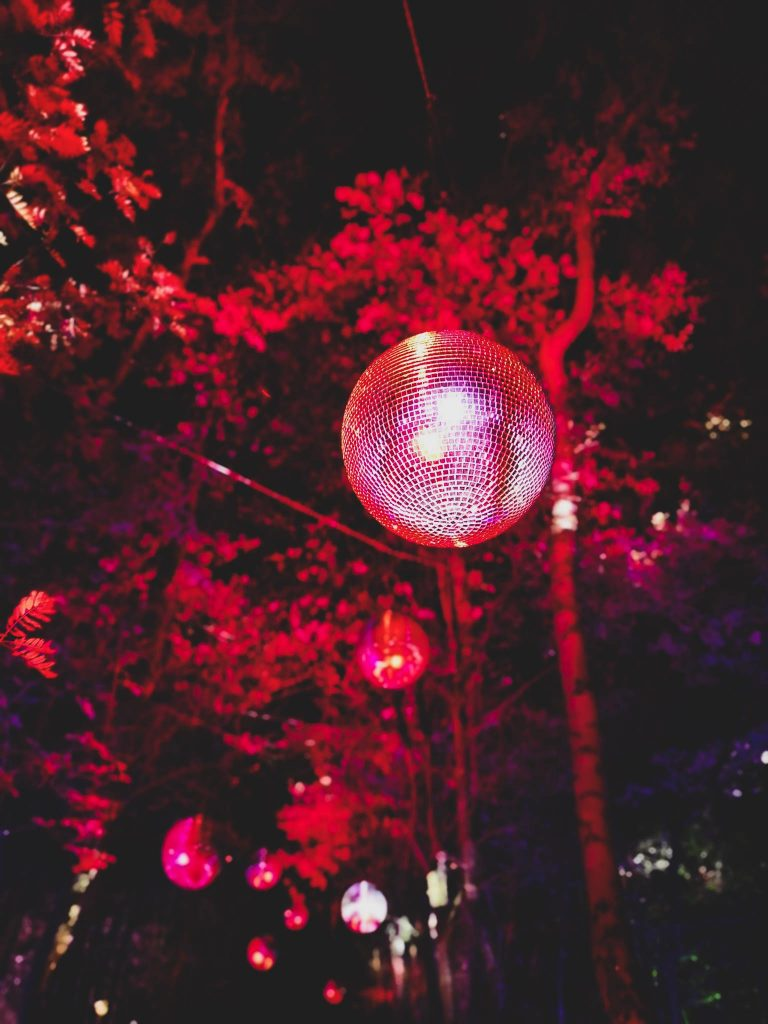 not just a tit magical woodland experience disco ball