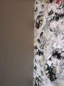 wallpaper muck n brass paint valspar grey green not just a tit office revamp