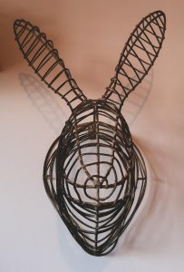 wire rabbit head fake taxidermy home decor not just a tit office revamp