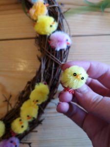 easter baking and crafting blog post not just a tit wreath chicks hot glue gun