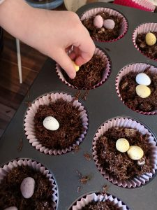 easter crafting and baking not just a tit manchester blogger mini eggs chocolate nests