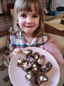 easter crafting and baking with kids three ingredient fudge not just a tit manchester blogger mini eggs