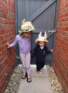 easter crafting and baking not just a tit blog post bonnet making siblings manchester blogger