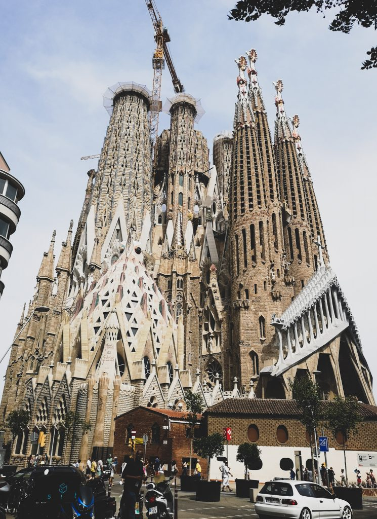 not-just-a-tit-lifestyle-blog-city-break-barcelona-sagrada-familia-stonework-towers