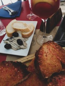 not-just-a-tit-lifestyle-blog-city-break-barcelona-tapas-anchovies-sangria-tomato-bread-eating-out