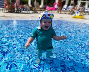 summer holiday corfu not just a tit lifestyle blog water baby smiles