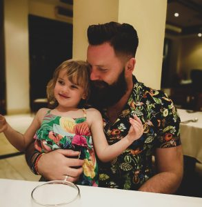 summer holiday corfu not just a tit lifestyle blog dinner time cuddles hawaiian shirt