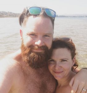 summer holiday corfu not just a tit lifestyle blog selfie bearded husband