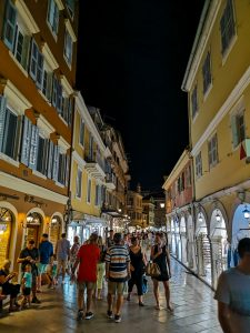 summer holiday corfu not just a tit lifestyle blog old town night