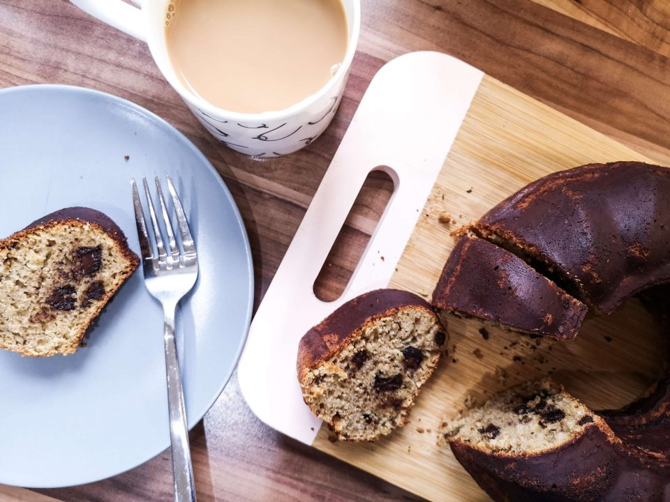 banana coffee and chocolate bundt cake recipe lockdown banana bread not just a tit
