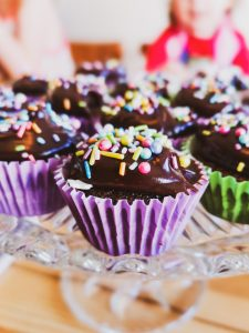 not just a tit lifestyle blogger afternoon tea with kids chocolate cupcakes sprinkles