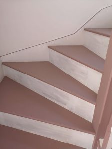 how to create a stunning staircase on a budget frenchic dusky pink alfresco paint