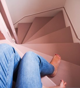 how to create a stunning staircase on a budget pink