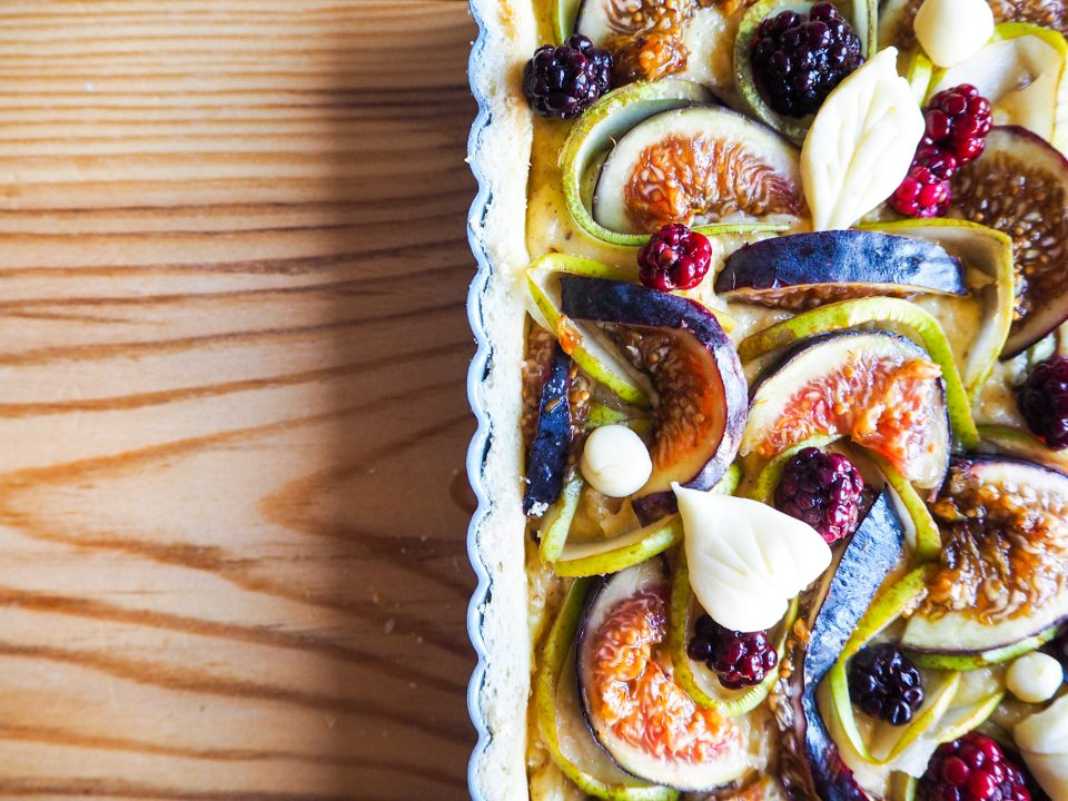 blackberry pear fig frangipane tart notjustatit autumn baking recipes