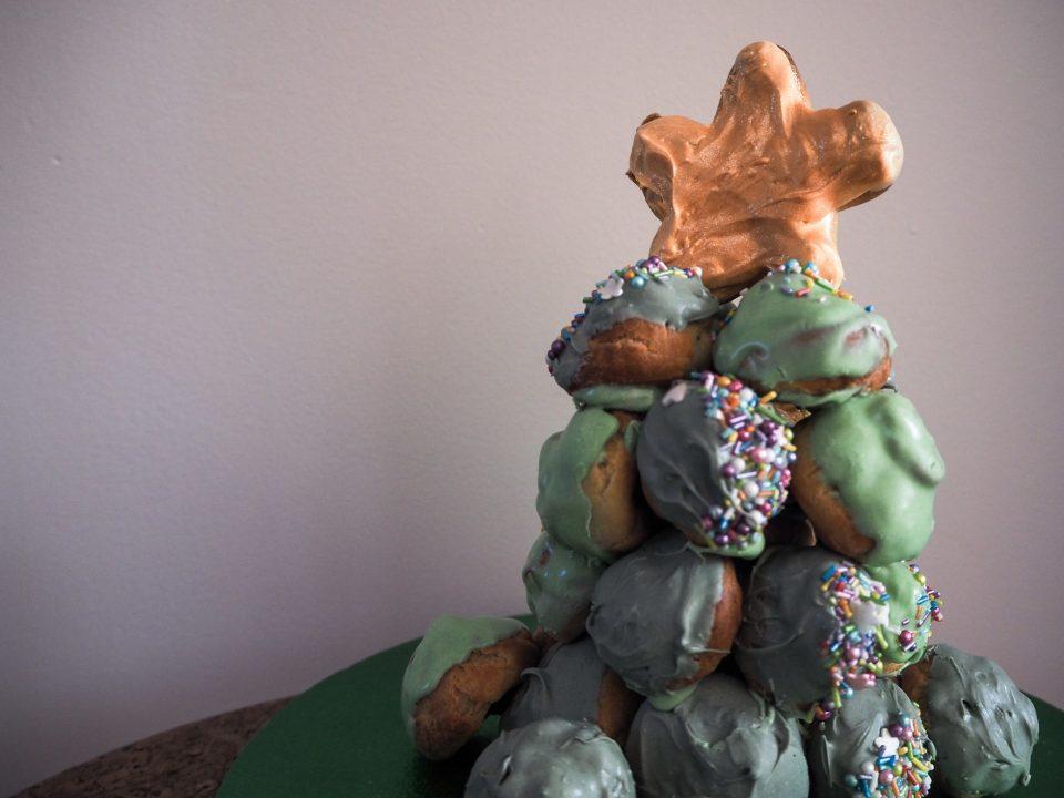festive baking choux pastry christmas tree notjustatit lifestyle recipe