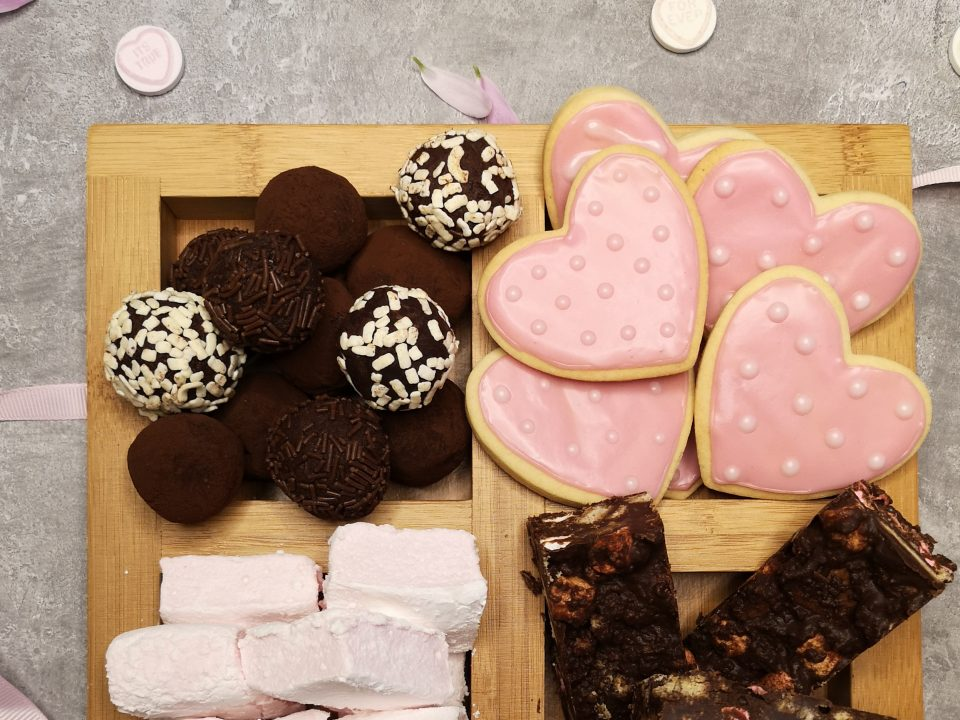 valentines treat box baking love hearts marshmallows rocky road biscuits header image notjustatit