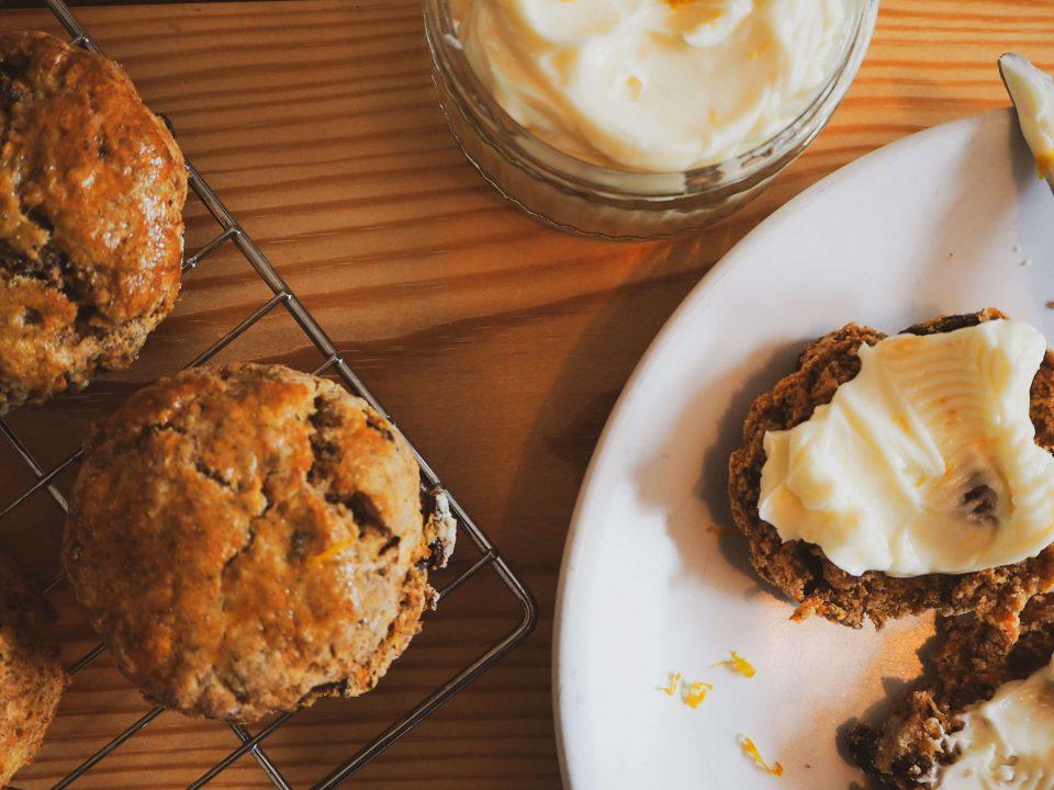 belly bakes series notjustatit food blog baking recipe carrot cake scones
